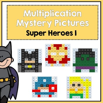 Multiplication Mystery Pictures- Super Heroes 1