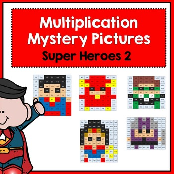 Multiplication Mystery Pictures- Super Heroes 2