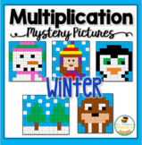 Multiplication Mystery Pictures - Winter Activities Math