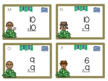 Multiplication Mystery Task Cards