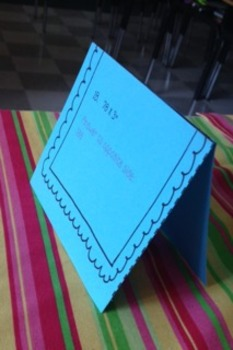 Multiplication Name Tag Style Task Cards  ((2 Digit by 1 Digit))