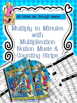 Multiply in Minutes with Multiplication Nation Music and Skip Counting Strips