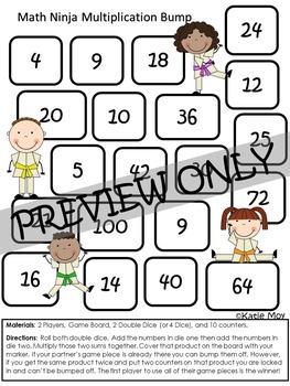 Multiplication Ninja Bump {NO PREP}