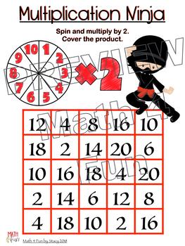 Multiplication Ninja - Game boards  #Flash Freebie