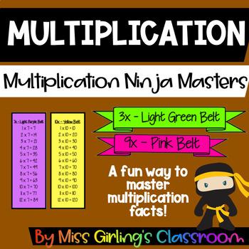 Multiplication Ninja Masters