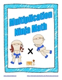 Multiplication Ninja Math: Fact Fluency Practice/Self Correcting Timed Tests