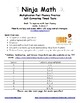 Multiplication Ninja Math: Fact Fluency Practice/Self Correcting Timed Tests