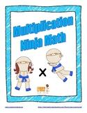 Multiplication Ninja Math: Fact Fluency Practice/Self Corr