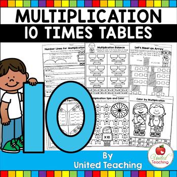 Multiplication Worksheets (10 Times Tables)