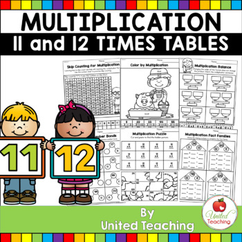 Multiplication No Prep 11 and 12 Times Tables