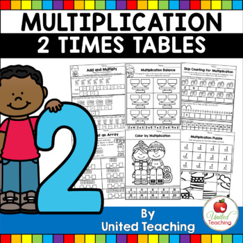 Multiplication No Prep 2 Times Tables