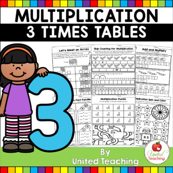 Multiplication No Prep 3 Times Tables