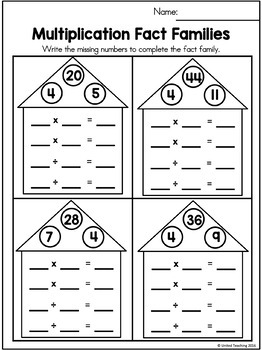 Multiplication No Prep 4 Times Tables