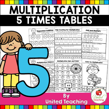 Multiplication No Prep 5 Times Tables