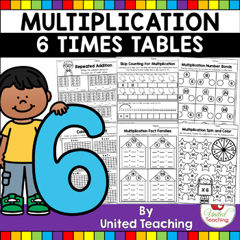 Multiplication No Prep 6 Times Tables