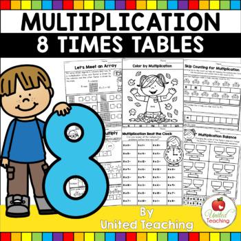 Multiplication No Prep 8 Times Tables
