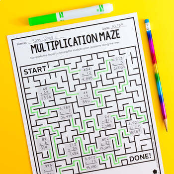 Multiplication No Prep Activities and Exit Tickets (Differentiated Grades 3-5)