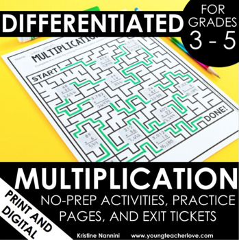 Fun Multiplication Worksheets Teaching Resources | Teachers Pay Teachers