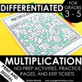 Multiplication Worksheets No Prep Printables - Google Slid