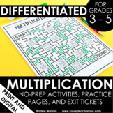 Multiplication Worksheets No Prep Printables - Google Slid