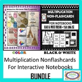 Multiplication Flappy Flashcards for Interactive Notebooks Both Color/B&W
