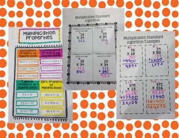 Multiplication Notebook Pages and Activities 5.NBT.5