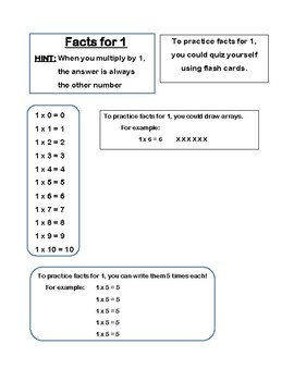 Multiplication Notebook and Flash Cards