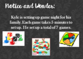 Multiplication Notice and Wonder Word Problems