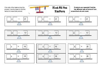 Multiplication Number Balance Games
