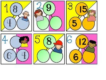 Multiplication Number Bond Calendar Cards