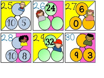 Calendar Date Cards - Multiplication Number Bonds