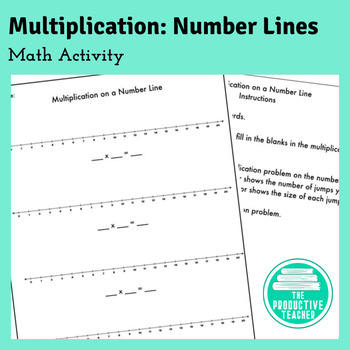 Multiplication Number Lines: Math Activity