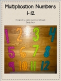 Multiplication Number Posters