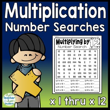 Multiplication Number Searches (x 2 thru 12) What a FUN Multiplication Activity!