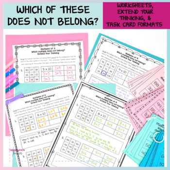 Multiplication Facts Activities and Intervention Bundle
