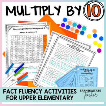Multiplication Facts 10 Times Table Multiples of 10