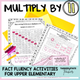 Multiplication Facts 11 Times Table Multiples of 11