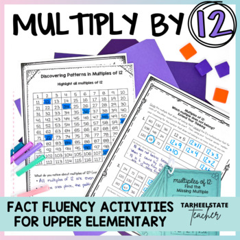 Multiplication Facts 12 Times Table Multiples of 12