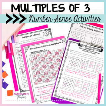 Multiplication Facts 3 Times Table Multiples of 3