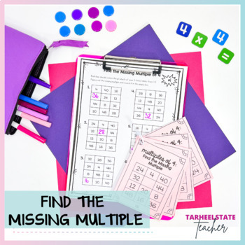 Multiplication Facts 4 Times Table Multiples of 4