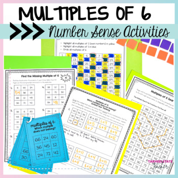 Multiplication Facts 6 Times Table Multiples of 6