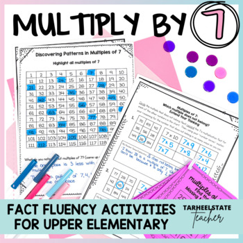 Multiplication Facts 7 Times Table Multiples of 7