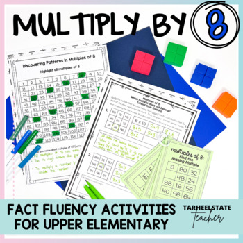 Multiplication Facts 8 Times Table Multiples of 8