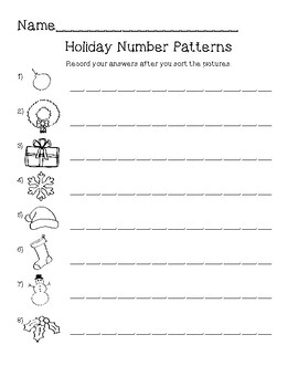 Multiplication Number patterns Holiday Center