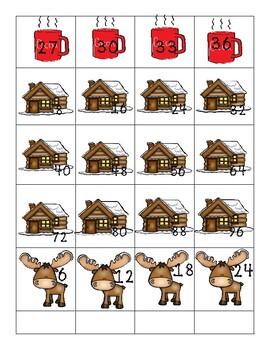 Multiplication Number patterns Winter Center