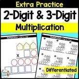 2-Digit Multiplication and 3-Digit Multiplication Workshee