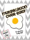 Multiplication Over Easy Center:  Multiplication Fact Fluency Game
