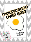 Multiplication Over Easy Center:  Multiplication Fact Flue