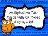 Multiplication Owls Task Cards with QR Codes {2 digit by 2 digit}