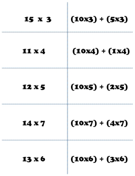 Multiplication: PARTIAL PRODUCT Match